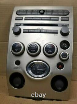 04 05 06 07 Infiniti QX56 CD SAT Radio Player Climate Control Panel Bezel OEM