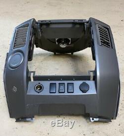 04 05 06 07 Nissan Titan Armada Radio AC Climate Dash Panel Bezel w Vents OEM