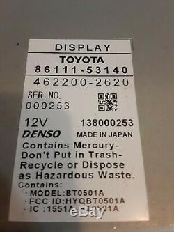 07 08 Lexus is250 is350 NAVIGATION Screen Radio Climate Control Display OEM