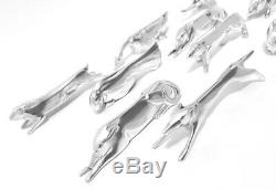 10 Christofle Gallia Original Art Deco Silver Animals Cutlery Rests SANDOZ