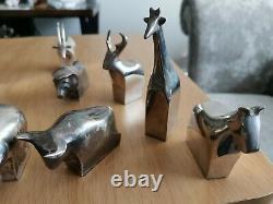 11 X Vintage Rare Dansk Design Silverplate Figures Paperweight