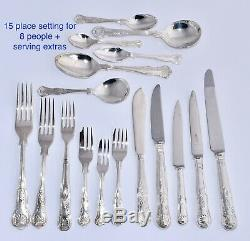 151 Piece Silver Plate KINGS Cutlery Set Stanley Rogers For 8 + Extras & Canteen