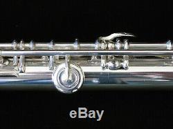 1882 Louis Lot Flute Original Solid Silver Gold Lip Plate Restored Never Retuned