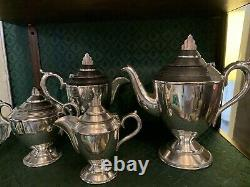 1903 German Silver Tea Service & Crusader Cream & Sugar