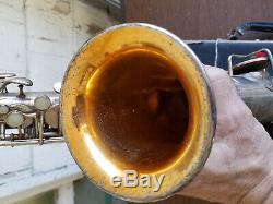 1916 Buescher Elkhart Low Pitch True Tone C-Mel Saxophone with Original Case