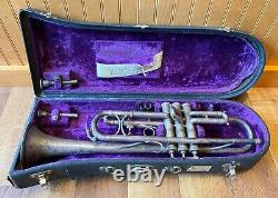 1920s H N White Co King Liberty Model Silver Plated Trumpet WithOriginal Case ++