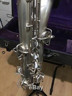 1925 Buescher C-Melody Saxophone Original Silver Plate Overhauled with mouthpiece