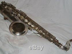 1928 Conn New Wonder II Chu Tenor Sax/Saxophone, Original Silver