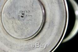 1930 Art Deco P. H Vogel Silver-Plate Bakelite Windmill Pick Holder Drink Markers