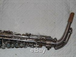 1930 Buescher True Tone Alto Saxophone, Original Silver and Snaps, Plays Great