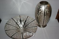 1930's IKORA GERMANY WMF ART DECO Silver Plated 3 FOOTED BOWL & VASE