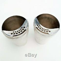 1930's Silver Plate Napier Cockerel Rooster Individual Cocktail Shakers with Cup