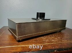 1930s Art Deco Chrome Plate Modernist Wood Lined/Slotted Cigarette Box Chase USA