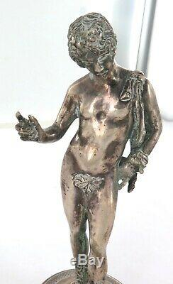 1930s SUPERB QUALITY NEOCLASSICAL SILVERPLATE FIGURINE. PRICED TO SELL