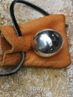 1965 Piet Hein Silver plated Brass Super Ellipse egg in original bag