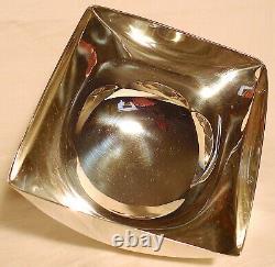 1970s Modernist Silver-Plated Bowl by Ward Bennett Restored