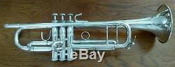 1977 Silver Plated Bach Stradivarius 43 Professional Trumpet w Original Case