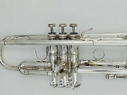 1983 Bach Stradivarius 37 Silver Plated Professional Trumpet with Original Case