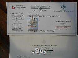 1988 25 x Twenty-Four carat Gold Plated Solid Silver Stamps Original Certificate
