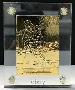 1992 Pinnacle Mickey Mantle Highland Mint Gold Plate with4.25 oz. 999 Fine Silver