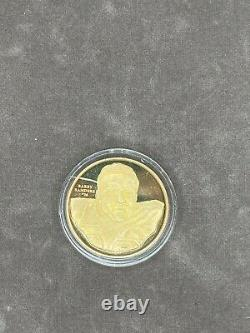 1996 NFL Chosen Few 24K Gold Plated. 999 Silver Coin Set of 8 Only 50 Made