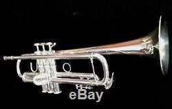 1996 Sliver Plated Bach Stradivarius 43 Professional Trumpet w Original Case