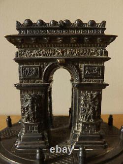 19th Century Grand Tour Arc De Triomphe Silver Plated Brass Box/Desk Ornament