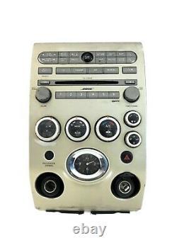 2004 2005 2006 Infiniti QX56 CD SAT Radio Player Climate Control Bezel BOSE OEM