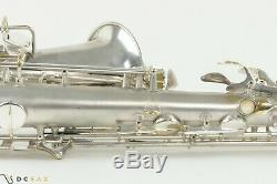 262, xxx Conn 6M Transitional Alto Saxophone, Original Silver Plate, Overhaul