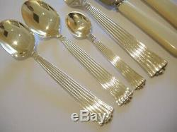 38pce Vintage Danish S Chr Fogh Silver Plate Diplomat Cutlery Set for 6 people