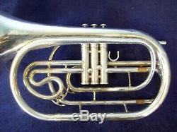 #4 Quality Yamaha Yhr302m Silver Marching French Horn + Original Yamaha Case