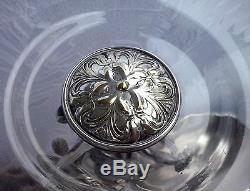 AMAZING WMF ART NOUVEAU Silver Plate Centerpiece Maiden Original Glass Liner