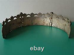 ANTIQUE Authentic Ottoman tiara crown head jewelry gold plated SILVER alloy