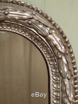 ANTIQUE SILVER GILT WALL MIRROR C1870. Original Mercury Mirror plate