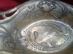 ANTIQUE WMF SILVER PLATED BASKET ART NOUVEAU JUGENDSTIL 1900s