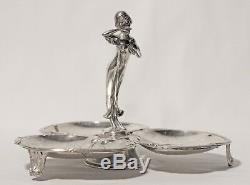 ART NOUVEAU WMF-Style silver-plated Tray German Austrian silver plated plate
