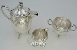 Antique 19th Rare Original Set Tea/Coffee Service Silver Plate Art Nouveau