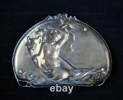 Antique Art Nouveau (Jugendstil) WMF Silver Plated Tray/Wall Plaque