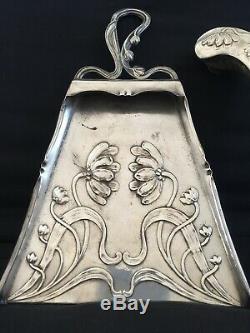 Antique Art Nouveau tray crumb silver plated WMF Gallia 1920