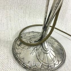 Antique Christofle Silver Plated Table Lamp Original French Art Nouveau Gallia