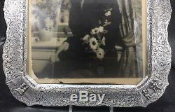 Antique E. G. Webster & Son E937 Silver Plate Picture Frame 11 x 13