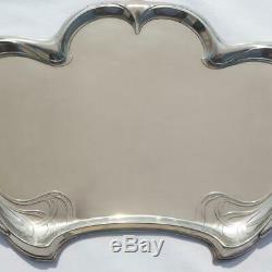 Antique German Wmf Jugendstil Art Nouveau Silver Plated Brass Large Serving Tray