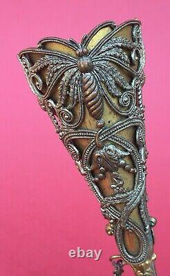 Antique Gilt Brass & Silver Plated tussie mussie Posy Holder circa 1880