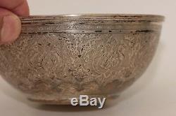 Antique Original Perfect Full Silver Persian Amazing Soop Plate