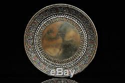 Antique Original Perfect Silver Enamel Russian 1878 Dated Plate