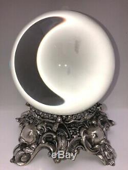 Antique Silver Plate Crystal Ball Oracle Ormolu Paranormal
