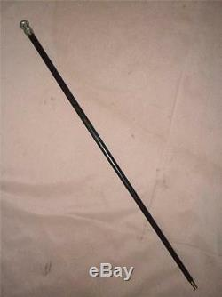 Antique Silver Plate Walking Side Saddle Show Cane
