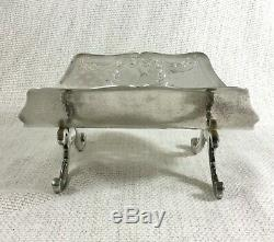 Antique Silver Plated Asparagus Tray Rack Bread Holder Trough Original French