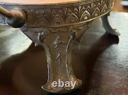 Antique Victorian Bridal Bowl with Silver plate Basket A BeautyFree Ship! 1880s