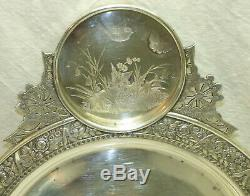 Antique Victorian Wilcox Silver Plate Aesthetic Fairy Water Pot with Tray & Goblet